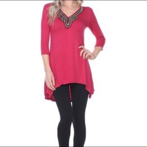 NWT Embellished Tunic Top 2XL